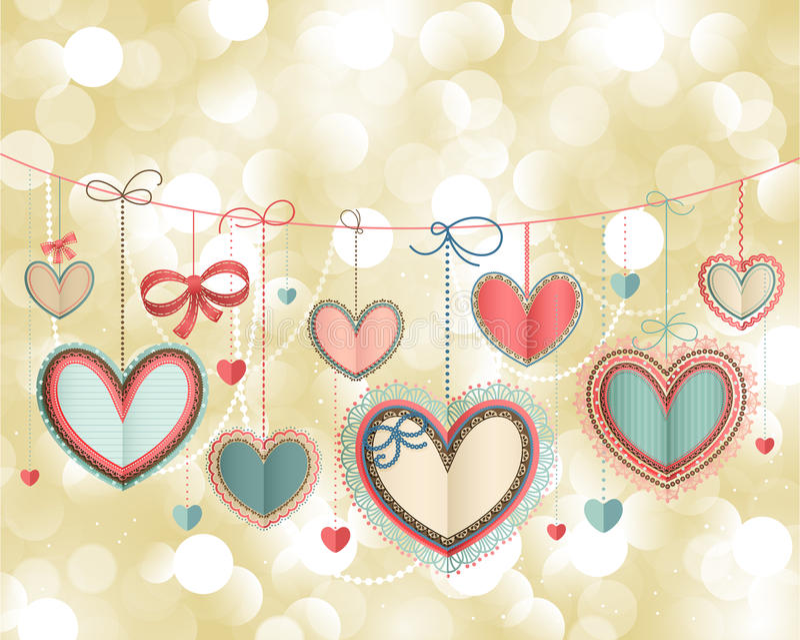 Carte de cru de jour du `s de Valentine illustration libre de droits