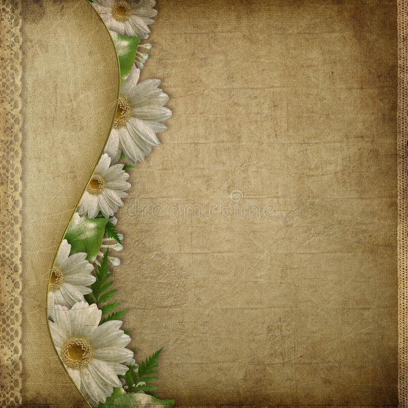 Carte de cru pour les vacances avec la fleur photos libres de droits