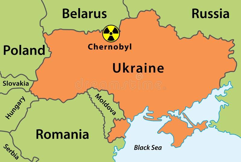 Carte de désastre de Chernobyl illustration de vecteur