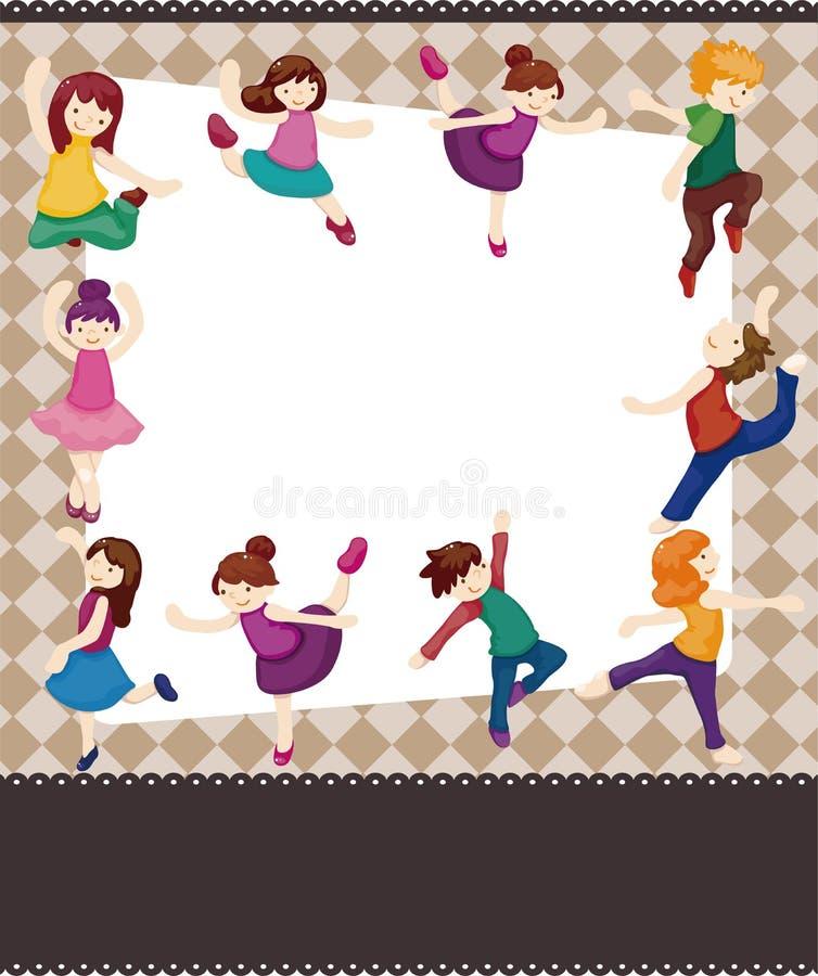 Carte de danseur de dessin animé illustration de vecteur