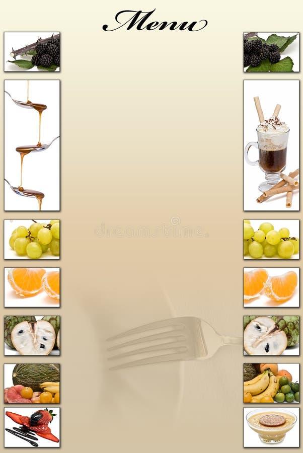 Carte de dessert. photo stock