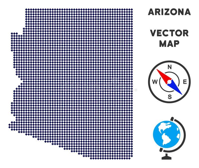 Carte de Dot Arizona State illustration libre de droits