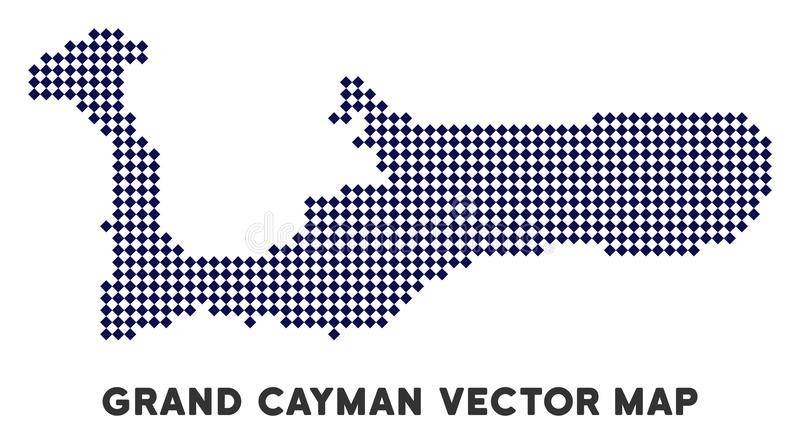 Carte de Dot Grand Cayman Island illustration de vecteur