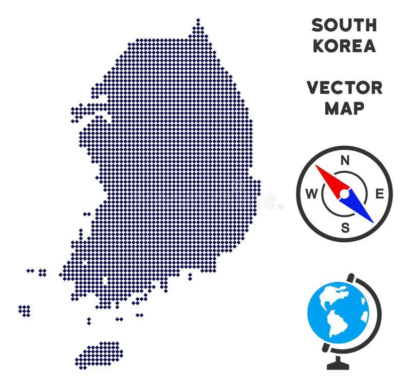 Carte de Dot South Korea illustration stock
