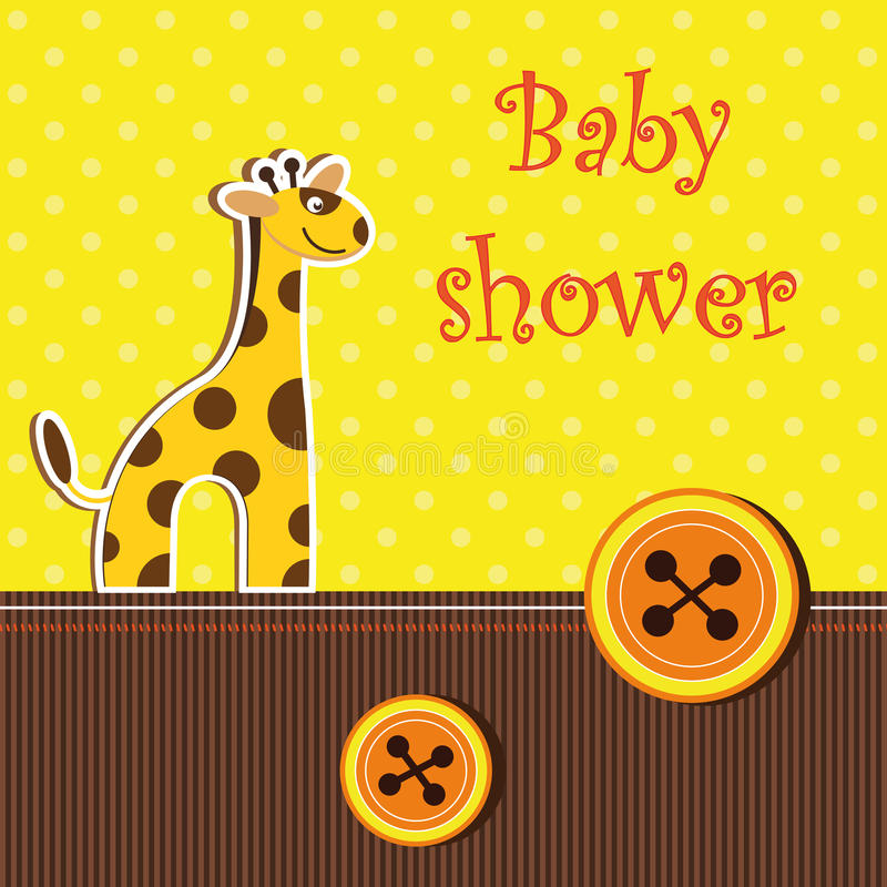 Carte de douche avec la giraffe illustration libre de droits
