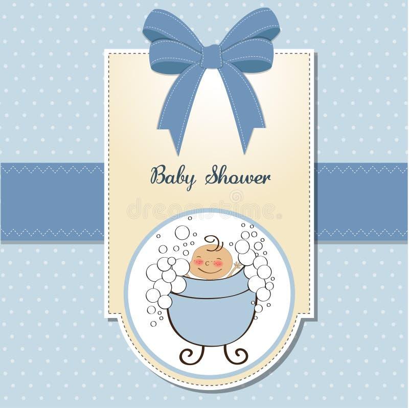 carte de douche de bébé illustration de vecteur