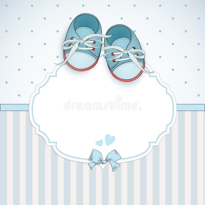 Carte de douche de bébé garçon illustration libre de droits