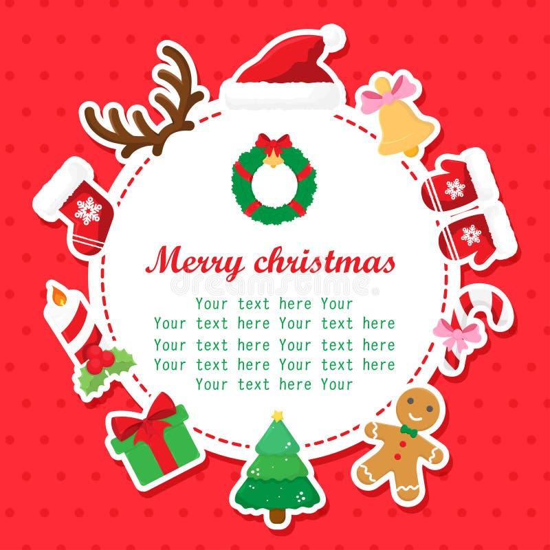 Carte de douche de Noël avec l'endroit pour votre texte photographie stock libre de droits