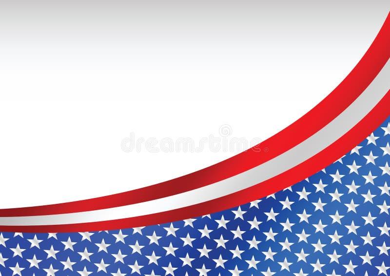 Carte de drapeau américain illustration libre de droits