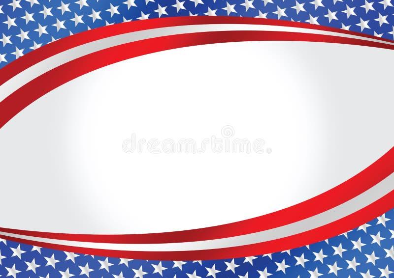 Carte de drapeau américain illustration de vecteur