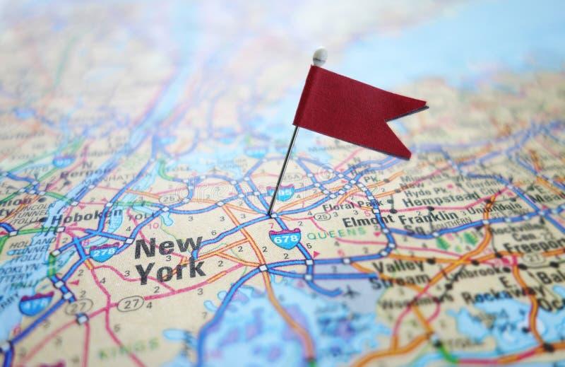 Carte de drapeau de New York image stock