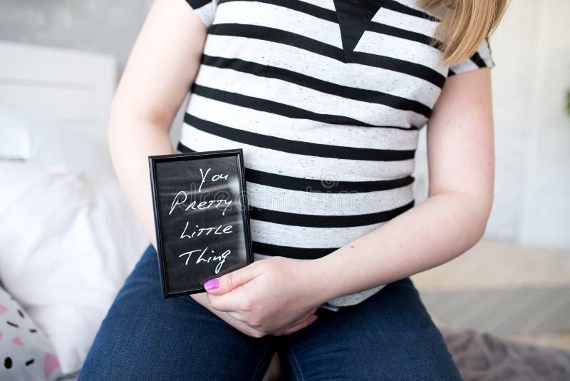 Carte de femme enceinte images libres de droits