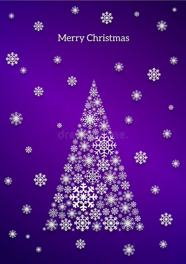 Carte de flocon de neige de Noël illustration stock