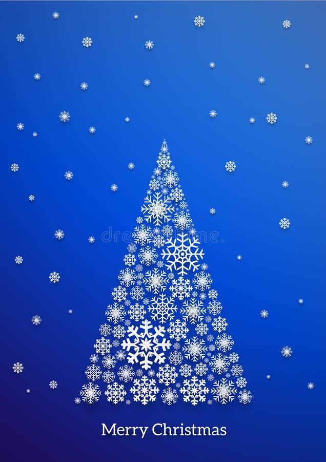 Carte de flocon de neige de Noël illustration de vecteur