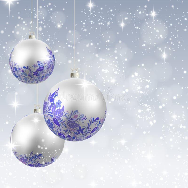 Carte de fond d'ornement de Noël illustration de vecteur