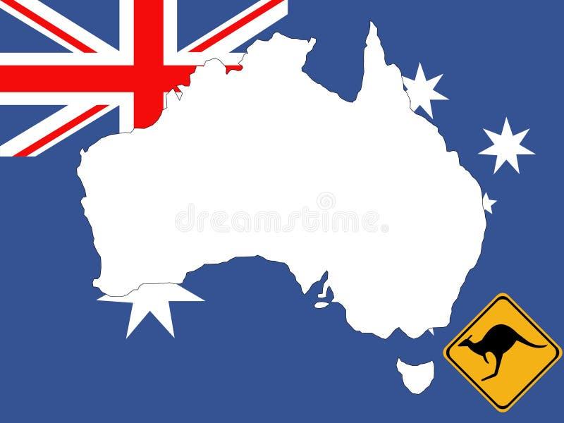 Carte de fond de l'Australie illustration libre de droits