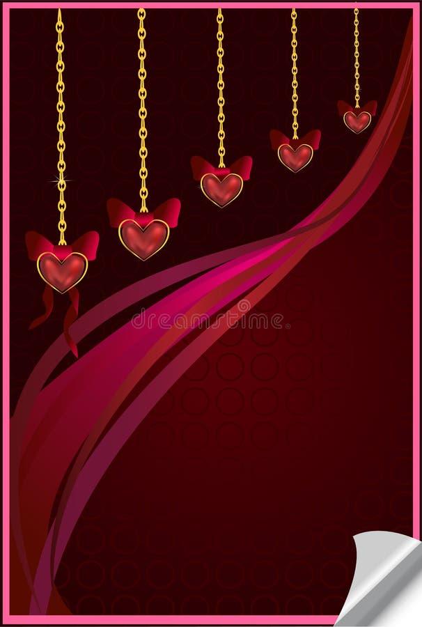 Carte de fond de Valentine avec des coeurs illustration de vecteur