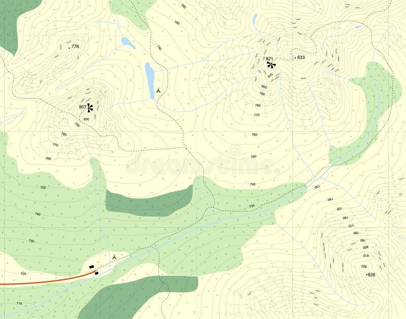 Carte de forme illustration de vecteur