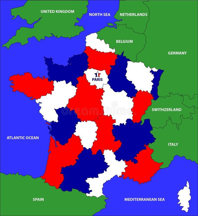Carte de Frances photographie stock libre de droits