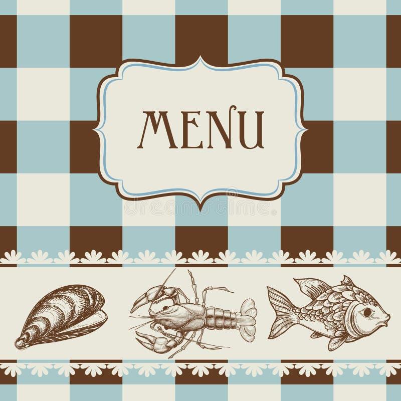 Carte de fruits de mer illustration libre de droits