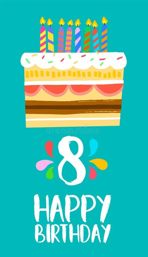 download carte de gteau de joyeux anniversaire pour la partie 8 de huit ans illustration de - Joyeux Anniversaire 8 Ans