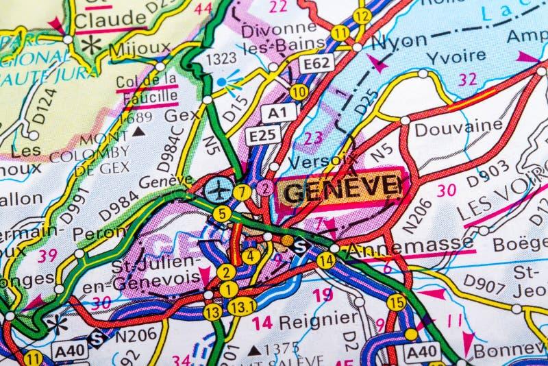 Carte de Geneve photo stock