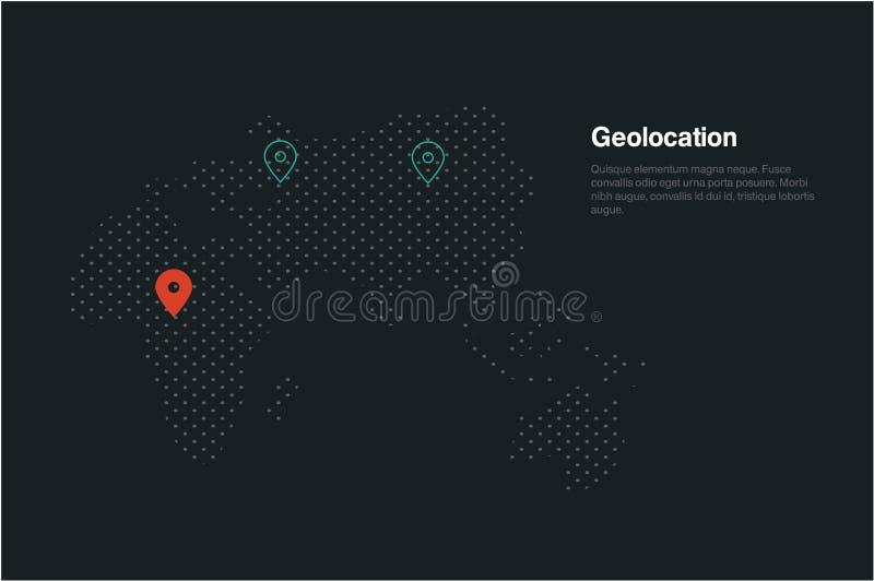 Carte de Geolocation illustration stock