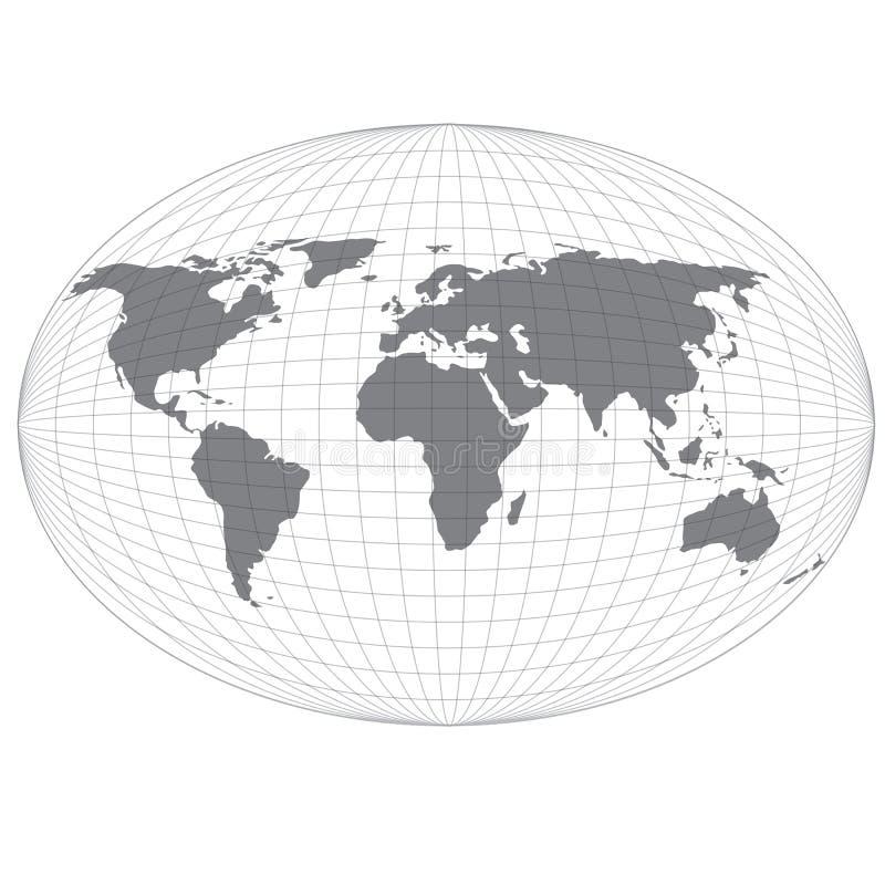 Carte de globe de fil. illustration libre de droits