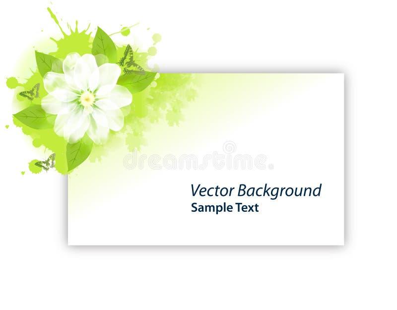 Carte de Gree de fleur illustration stock