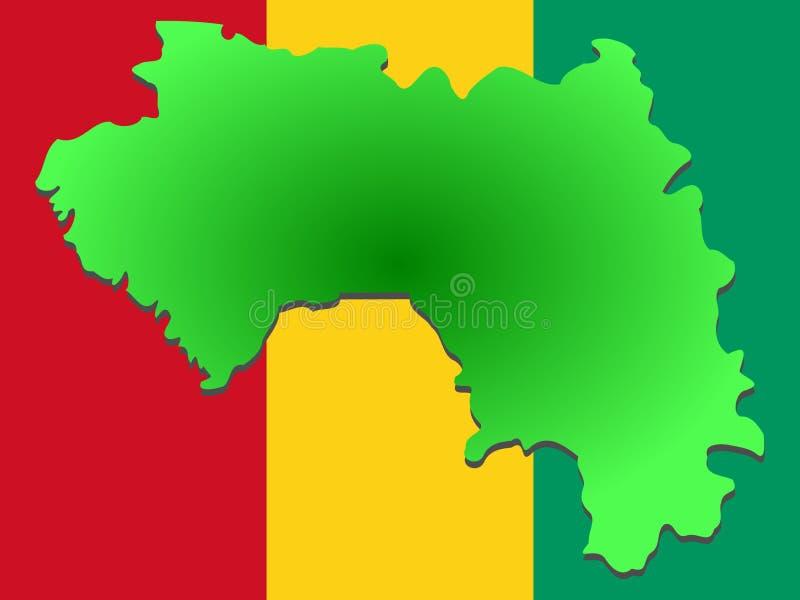 Carte de Guinée illustration libre de droits