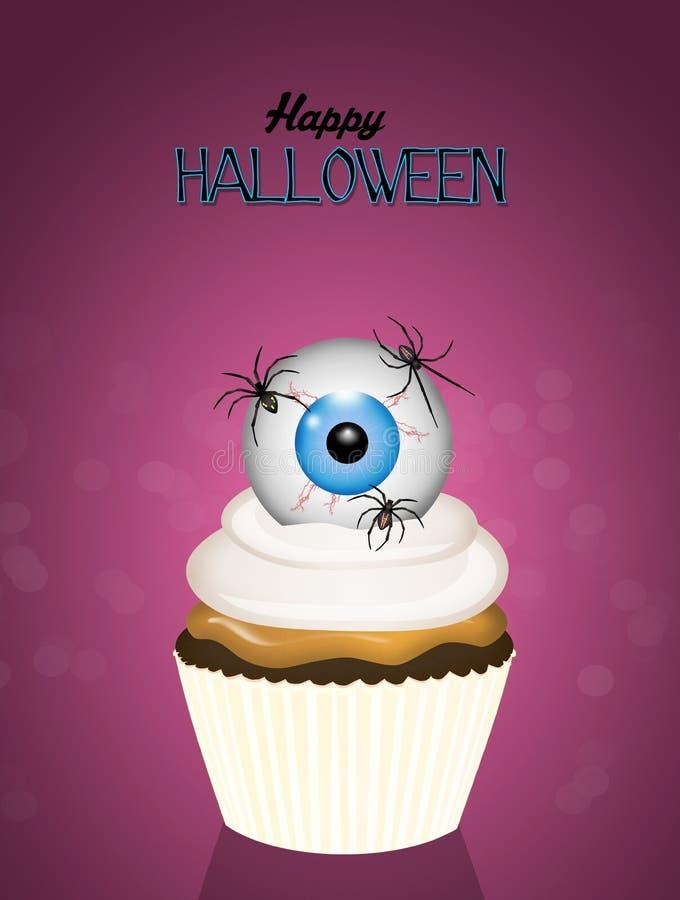 Carte de Halloween avec le des bonbons ou un sort illustration libre de droits