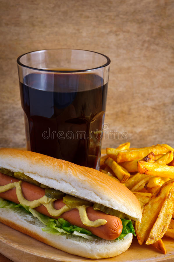 Carte de hot-dog photo libre de droits