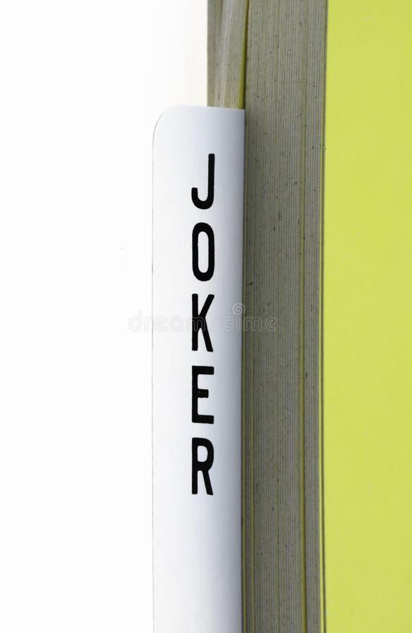 Carte de joker image stock