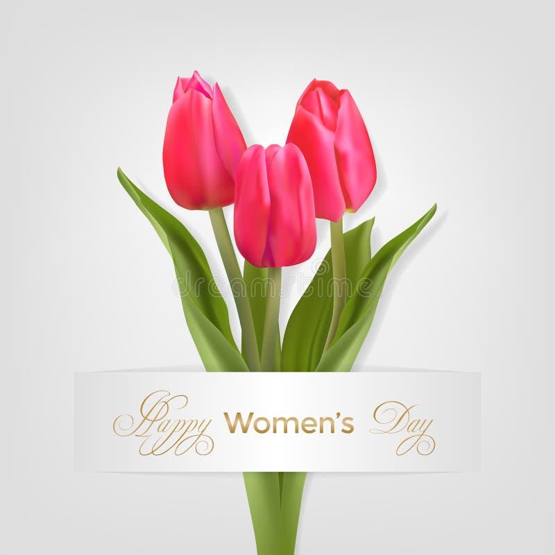 Carte de jour de femmes illustration stock