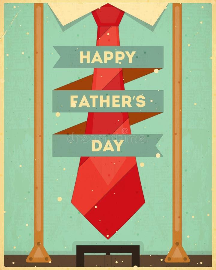 Carte de jour de pères illustration stock