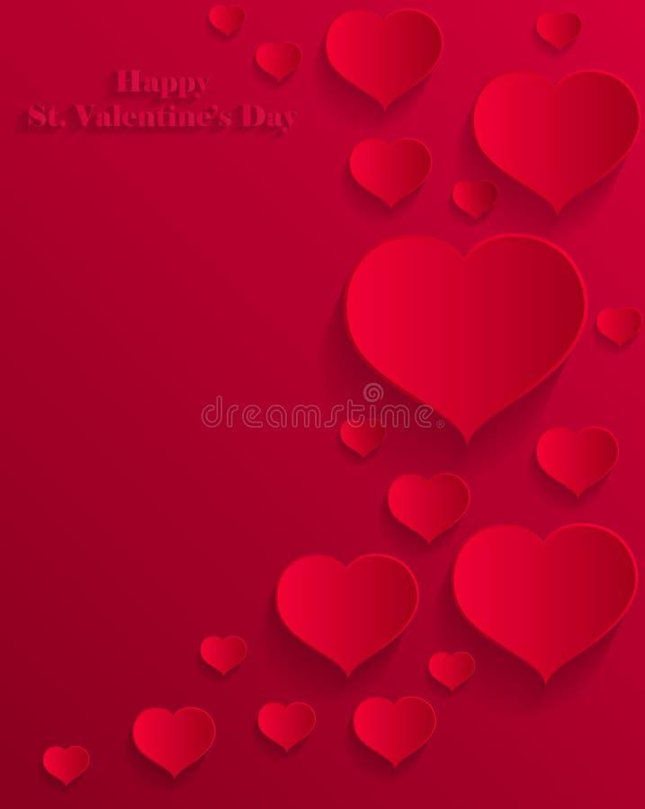 Carte de jour de Valentine's de papier illustration stock