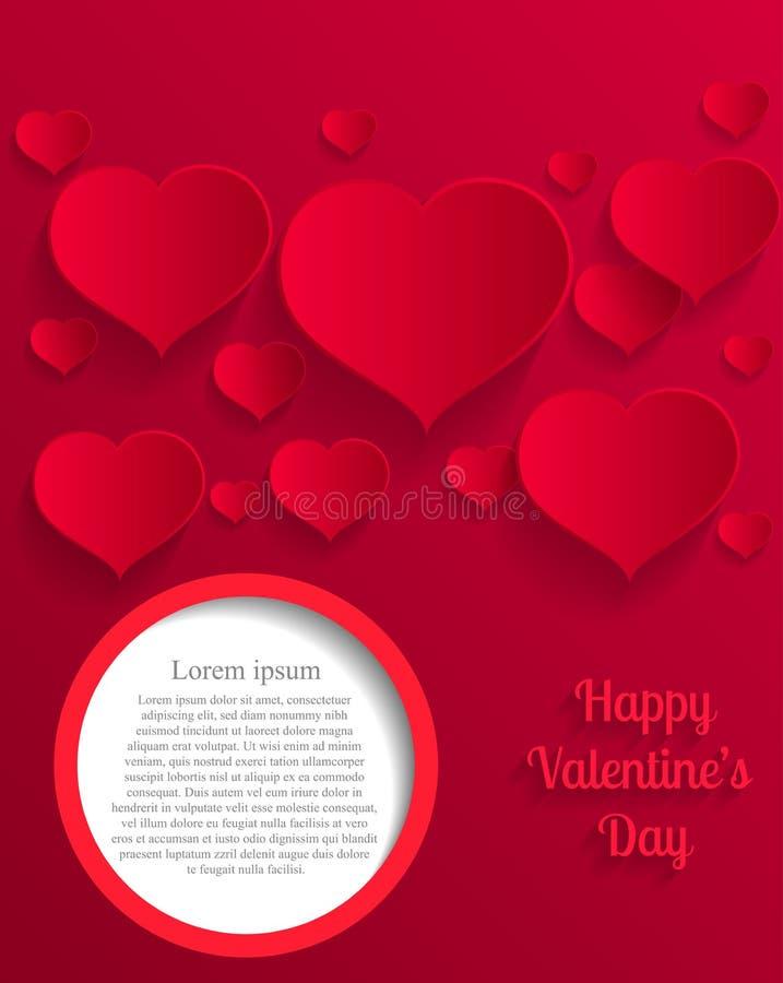 Carte de jour de Valentine's de papier illustration de vecteur