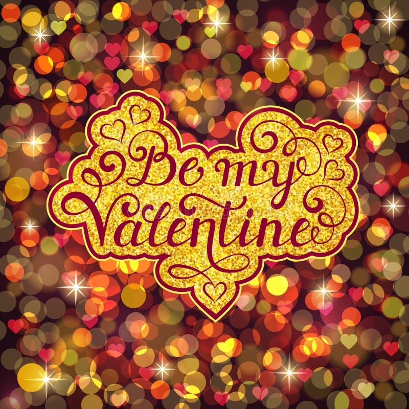 Carte de jour de Valentine s illustration libre de droits