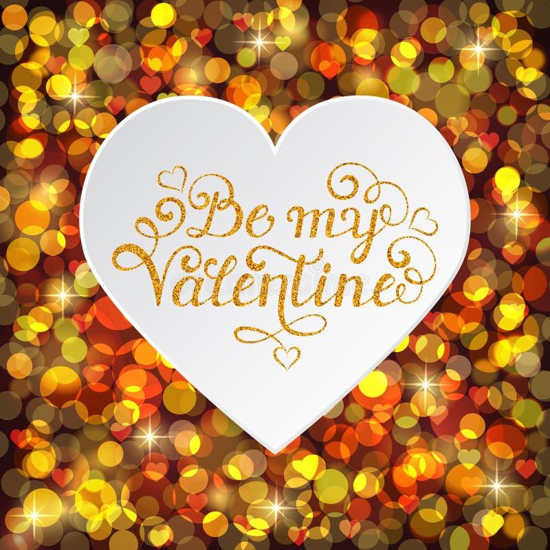 Carte de jour de Valentine s illustration de vecteur
