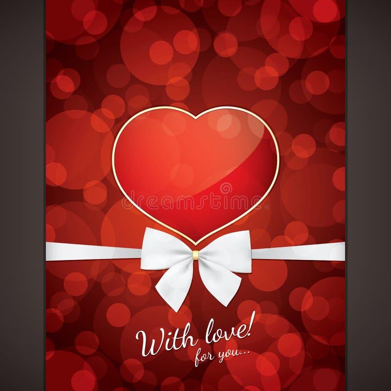 Carte de jour de Valentines illustration de vecteur