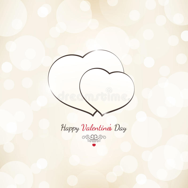 Carte de jour de valentines illustration stock