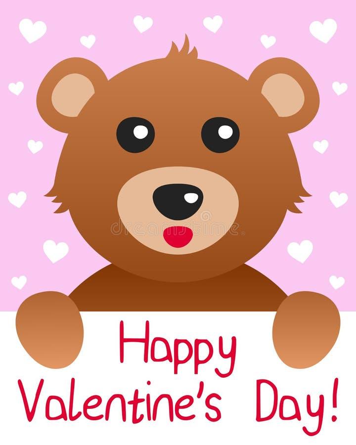 Carte de jour de Valentines d'ours de nounours illustration libre de droits