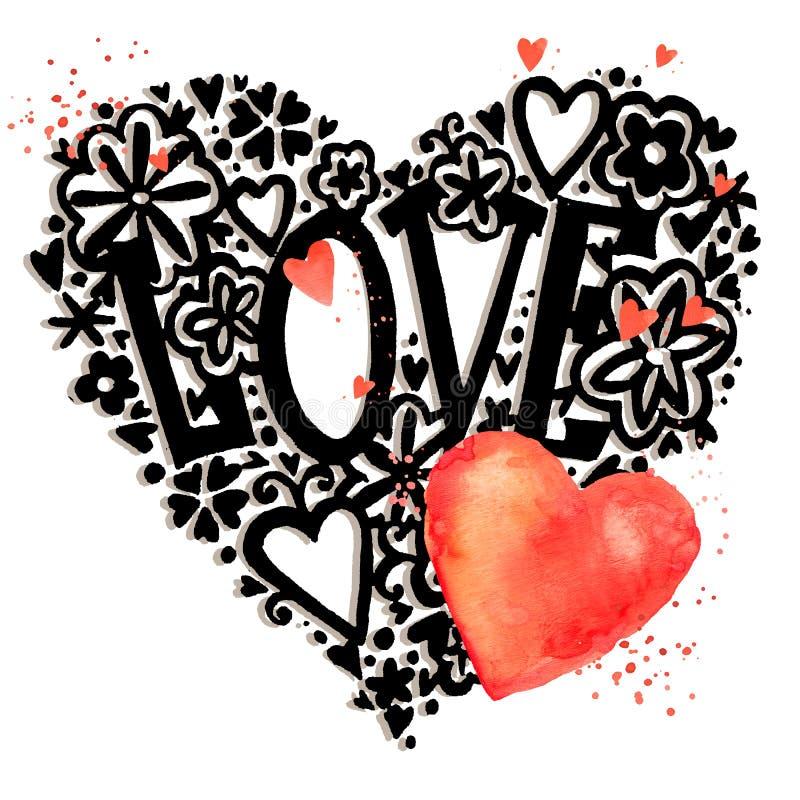 Carte de jour de Valentines images 3d d'isolement sur le fond blanc Fond de jour de Valentine illustration de vecteur