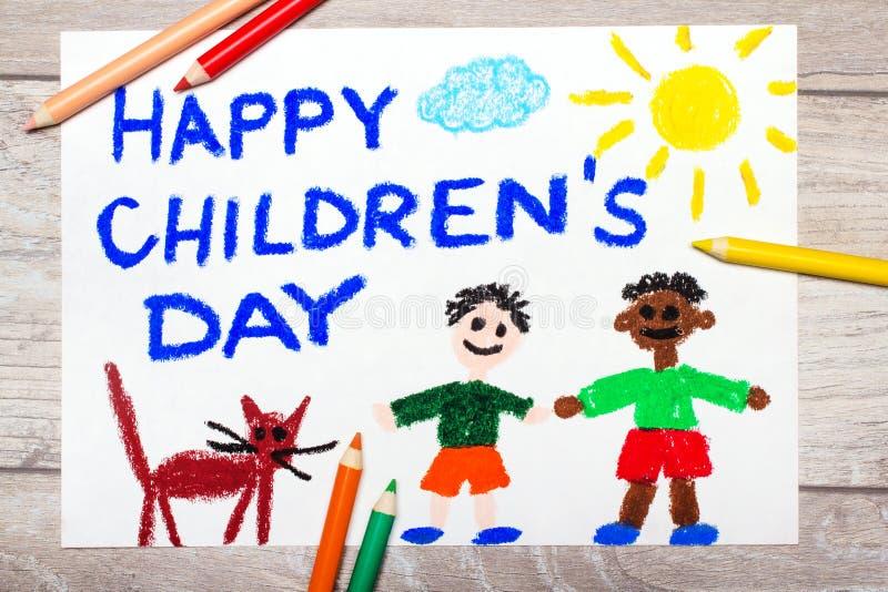 Carte de jour du ` s d'enfants photo libre de droits