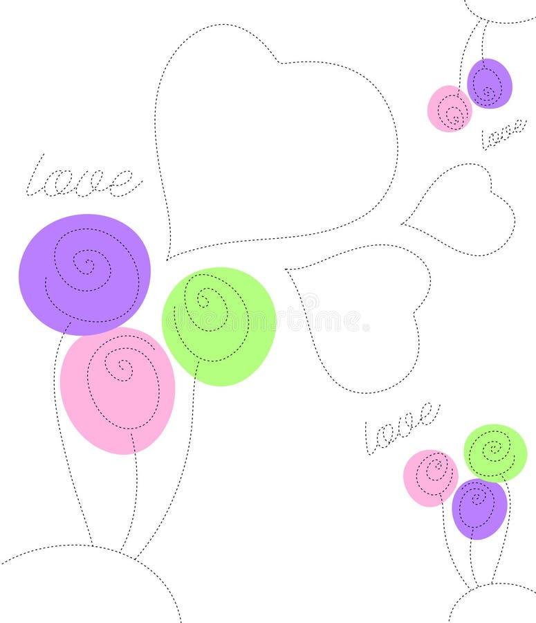 Carte de jour du `s de Valentine illustration libre de droits