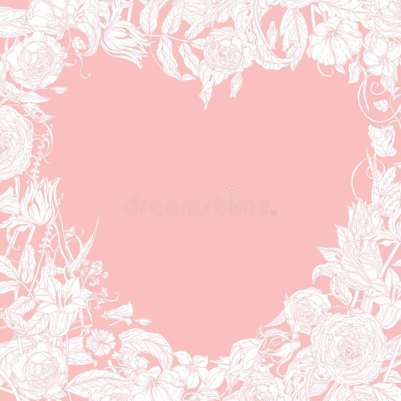 Carte de jour et de mariage de valentines illustration stock