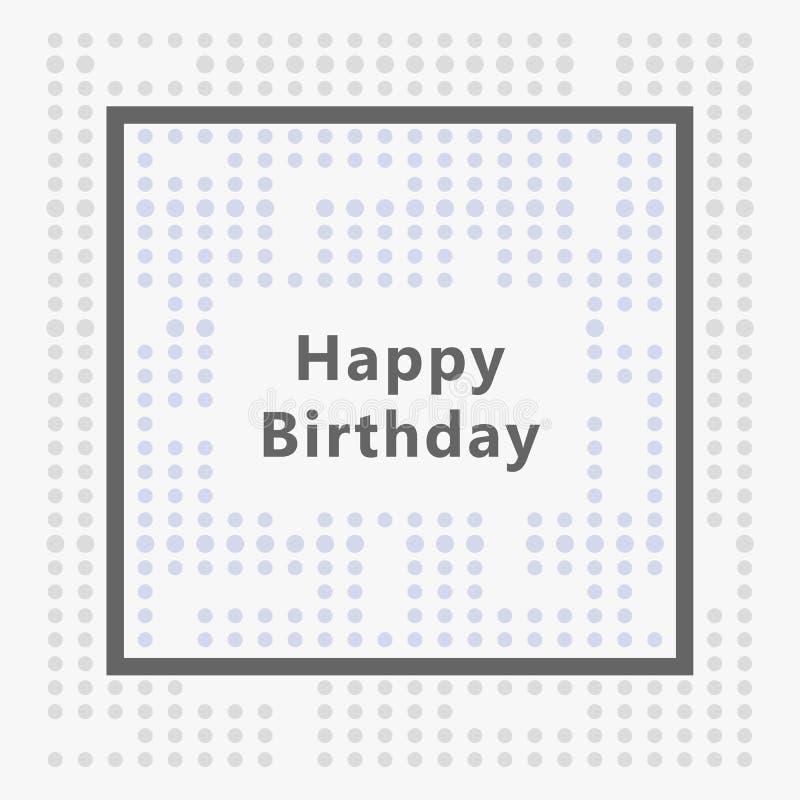Carte de joyeux anniversaire, conception minimaliste photos stock