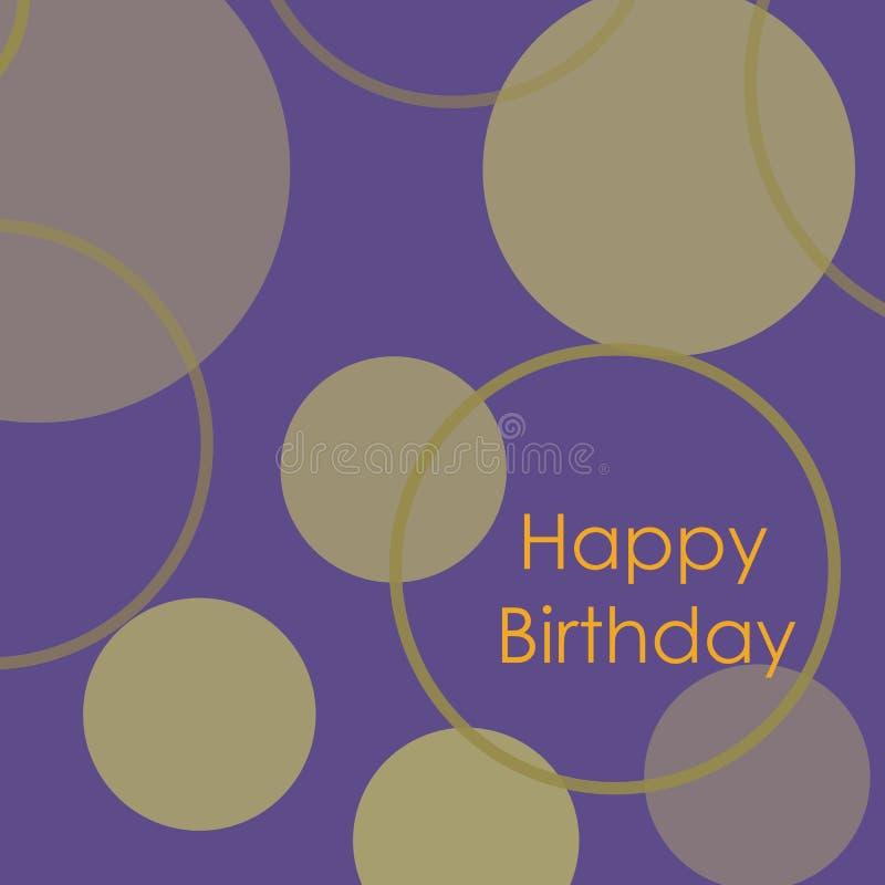 Carte de joyeux anniversaire Conception minimaliste photos stock