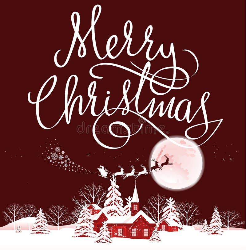 Carte de Joyeux Noël illustration libre de droits