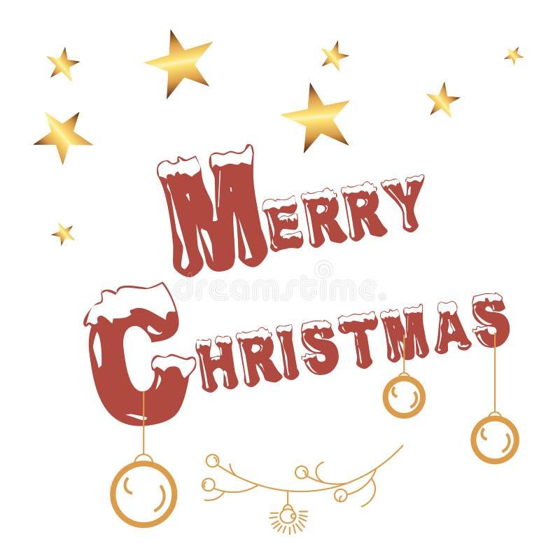 Carte de Joyeux Noël illustration de vecteur